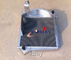 Aluminum Alloy Radiator + FAN for Austin Healey Sprite Bugeye/MG Midget 948/1098