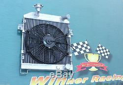 Aluminum Alloy Radiator &Fan JAGUAR MK1/MK2 MK I/II S-TYPE SALOON M/T 1955-1967