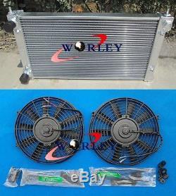 Aluminum Alloy Radiator & Fans VW Golf MK1 MK2 GTI Scirocco 1.6 1.8 8V MT