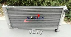 Aluminum Radiator + 2 x Fans for Volkswagen VW Golf 2 & Corrado VR6 Turbo Manual