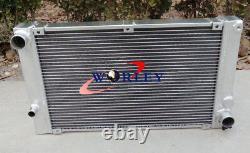 Aluminum Radiator &FAN for PORSCHE 944 2.5L & 2.7L non turbo Manual 1985-1991