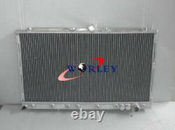 Aluminum Radiator + FANS For MITSUBISHI 3000GT 3000 GT GTO VR4 Manual MT