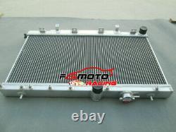 Aluminum Radiator + FANs FOR Subaru Impreza Wrx STI GDB GDA GD TURBO 2003-2007