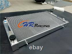 Aluminum Radiator FOR Jaguar XJS 6 CYL 3.6L 1982-1991 / 4.0L 1992-1996 AT 62MM