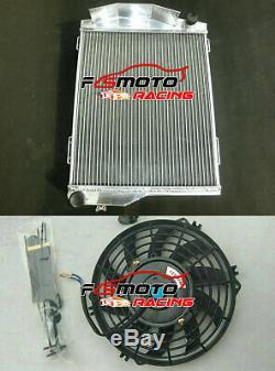 Aluminum Radiator +Fan For Austin Healey 3000 1959-1967 / 100-6 1956-59 2.6/2.9L