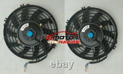 Aluminum Radiator + Fans For Peugeot 106 Gti&rallye//citroen Saxo/vtr Mt