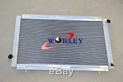 Aluminum Radiator + Fans For Subaru Impreza WRX STI GC8 2.0L EJ20 MT 1992-2000