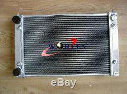 Aluminum Radiator& Fans For Vw Corrado Scirocco Jetta Golf Gti Mk2 1.8 16v 86-92