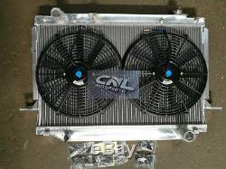 Aluminum Radiator & Fans for Landcruiser FJ80 FJ80R FZJ80 4.5L 1FZ-FE 1991-1998