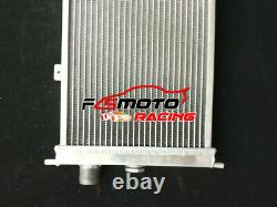 Aluminum Radiator For Opel Corsa A Vauxhall Nova GTE GSi 16v Turbo MT 82-93 Fans