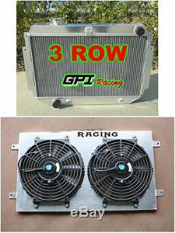 Aluminum Radiator Holden Torana HQ HJ HX HZ HK Kingswood V8+Alloy Shroud +Fan