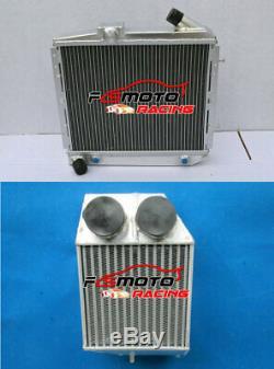 Aluminum Radiator& Intercooler For RENAULT SUPER 5/R5 9/11 GT TURBO 1985-1991 AT