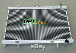 Aluminum Radiator & Shroud &Fans Fit Nissan 200SX S13 CA18DET 1.8 Turbo 88-94 MT