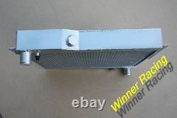 Aluminum Radiator WithShroud &14 160W Fan Fit MG MGB GT ROVER V8 SWAP 56MM