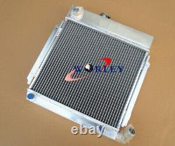 Aluminum Radiator &fan For Bmw 02 E10 2002/1802/1602/1600/1502 Tii/turbo At/mt