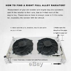 Aluminum Radiator fit Subaru Impreza Classic GC8 WRX STI EJ20 bugeyes twin tube