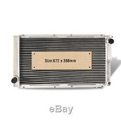 Aluminum Radiator fit Subaru Impreza/Liberty Classic GC8 WRX STI EJ20 Black 42MM