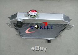 Aluminum radiator&Fan for Ford Capri MK1 2 3 Kent 1.3L 1.6L/2.0 Essex/Escort 1.6