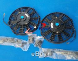 Aluminum radiator + fans for Land Rover Discovery & Range Rover Series 1 3.9L V8
