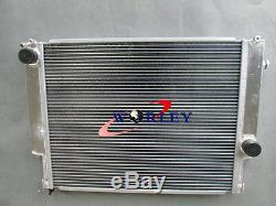 Aluminum radiator & shroud & fan for BMW E36 M3 Z3 325TD 320 323 328 manual MT
