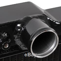 BLACK 40mm ALUMINIUM ALLOY SPORT RADIATOR RAD FOR SUBARU IMPREZA BUGEYE WRX