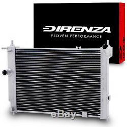 DIRENZA 40mm ALLOY RACE RADIATOR FOR VAUXHALL OPEL ASTRA MK3 F GSi 2.0 8V 16V
