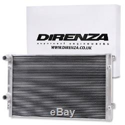 DIRENZA 40mm ALLOY RACE SPORT RADIATOR RAD FOR AUDI A3 8P TT 8J 1.2 1.4 1.8 TFSI
