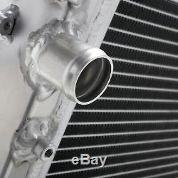 DIRENZA 40mm ALUMINIUM TWIN CORE RACE RADIATOR RAD FOR FIAT 500 1.4 ABARTH 08+