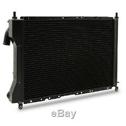 DIRENZA 40mm BLACK ALLOY SPORT RADIATOR RAD FOR FIAT COUPE 2.0 20V TURBO 96-00