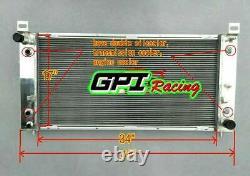 FOR Chevrolet Silverado 1500 2500 3500 4.8L 5.3L 6.0L V8 Alloy Aluminum radiator