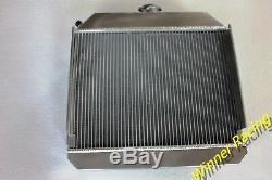 Fit Austin Healey 100-4 1953-1956 53 54 55 56 MT aluminum radiator 56mm 2 Rows