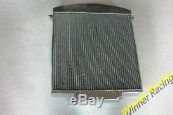 Fit Jaguar XK120 3.4 L XK I6 1948-1954 49 50 51 52 Full aluminum radiator 70mm