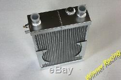 Fit Lotus Europa 1.5L/1.6L 1966-1976 M/T Aluminum Alloy Radiator+Fan 86mm 3 row
