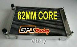 Fit Triumph TR7 1980 1981 MT alloy aluminum radiator 62MM CORE