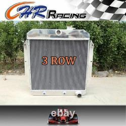 For 3 Row 1947-54 Chevy C/k 3000 Series Truck Pickup L6 Aluminum Radiator
