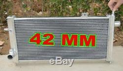 For 42mm Alloy Aluminum Radiator Opel Vauxhall Nova GTE GSi 2.0 16v Turbo, NEW