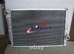For BMW E46 M3 330D 328 Ci 323 Ci 320 Ci 318 i MT 99-07 Aluminum Radiator + Fan