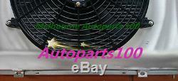 For Holden Commodore Radiator+Shroud+Fan VG VL VN VP VR VS V8 52m Alloy AT MT