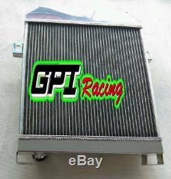 For JAGUAR MARK 2 MK2 MK II DAIMLER 2.5 V8 V8-250 AT aluminum radiator 56MM
