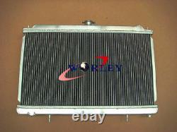 For NISSAN SILVIA S14 S15 200SX SR20DET 1994-2002 MT Aluminum Radiator+fans