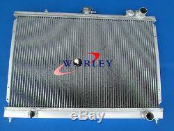 For Nissan Pintara Skyline R31 Alloy Aluminum Radiator + 2 × 10 inch 12V fans