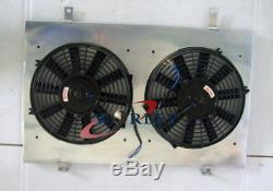 For Nissan Skyline R33 R34 GTR GTS-T RB25DET MT Aluminum radiator + Shroud+ Fans