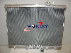 For PEUGEOT 206 2.0L GTI RC S16 Manual MT 1999-2008 00 01 Aluminum Radiator +FAN