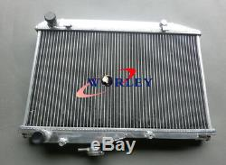 For TOYOTA COROLLA AE86 1.6L I4 1983-1987 83 84 85 86 MT Aluminum Radiator +FANS
