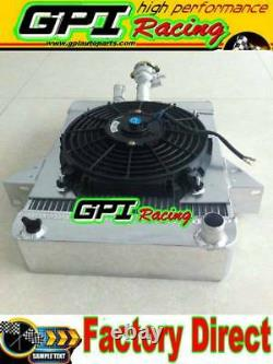 For Triumph GT6 1966-1973 67 68 69 Aluminum Alloy Radiator & Shroud + 10'' Fan