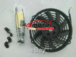 For VW GOLF MK1 CADDY SCIROCCO Jetta GTI SPEC 1.6 1.8 8V Aluminum Radiator + Fan