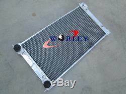For VW GOLF MK1 MK2 GTI SCIROCCO 1.6 1.8 8V MT ALUMINIUM RADIATOR + 2 FANS