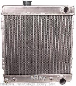Ford Mustang Radiator Alloy 55mm 2 Core V8 1964 1965 1966 65 66 IMPROVED DESIGN