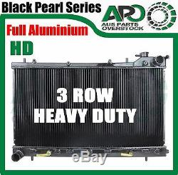 Full Alloy 3 ROW Radiator for SUBARU FORESTER SG EJ25 2.5L 2002-2007 Auto Manual