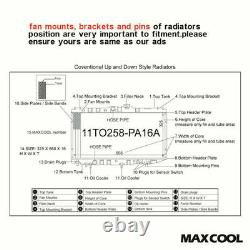 High Flow Full Aluminium Radiator Fits Honda CIVIC Ep3 Type-r 2.0 K20 2000-2005